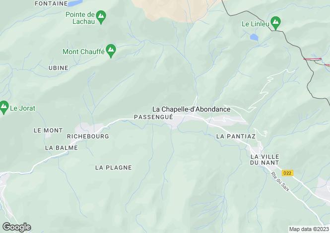 Map for Rhone Alps, Haute-Savoie, La Chapelle-d`Abondance