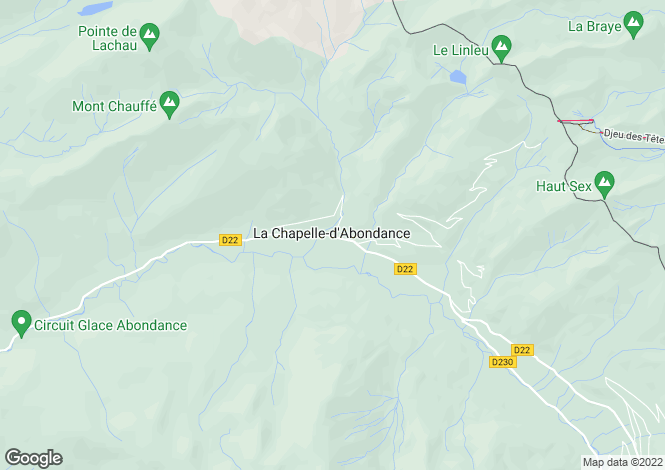 Map for La Chapelle d'Abondance, Haute Savoie, France, 74390