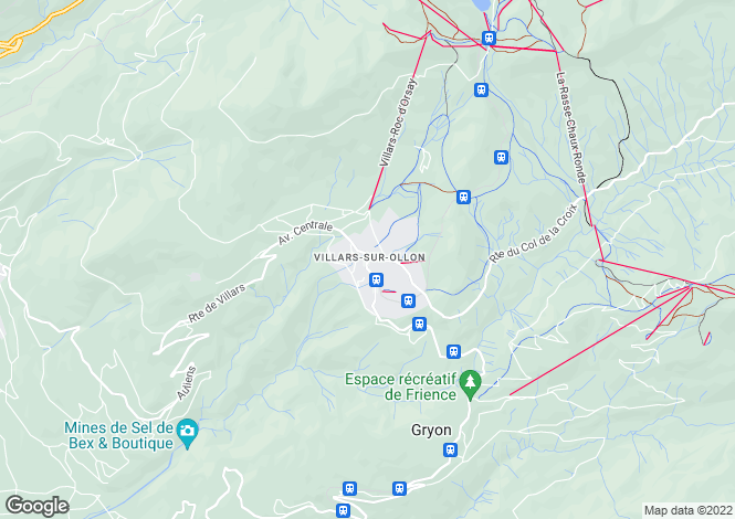 Map for Switzerland - Vaud, Villars-sur-ollon