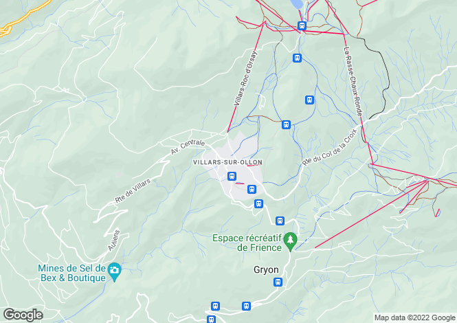 Map for Vaud, Villars-sur-ollon