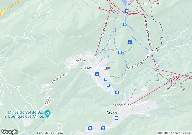 Map for Vaud, Villars-sur-ollon