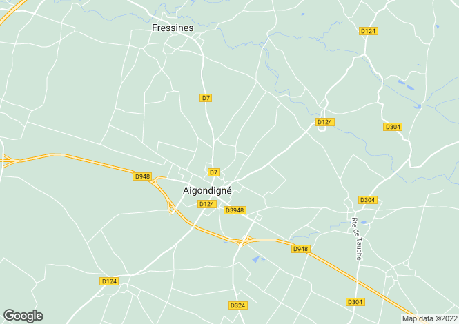 Map for mougon, Deux-Sèvres, France