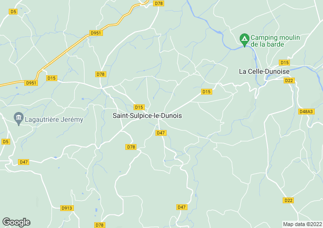 Map for st-sulpice-le-dunoise, Creuse, France