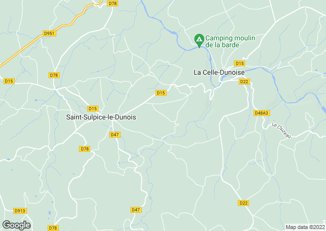Map for la-celle-dunoise, Creuse, France