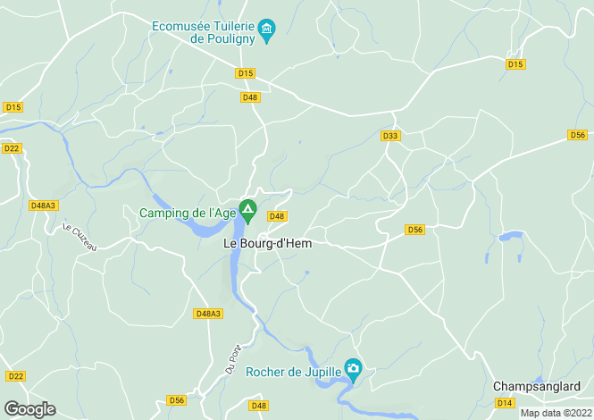 Map for le-bourg-d'hem, Creuse, France