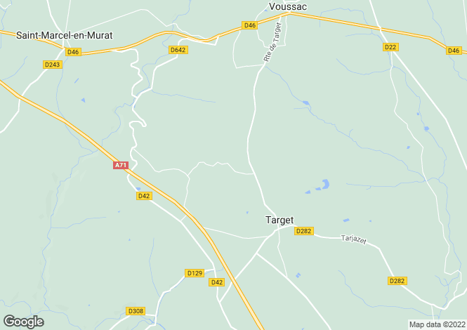 Map for target, Allier, France