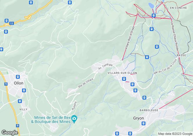 Map for Vaud, Villars