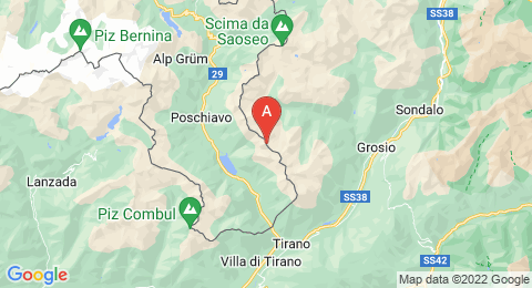 map of Piz Trevisina (Italy)