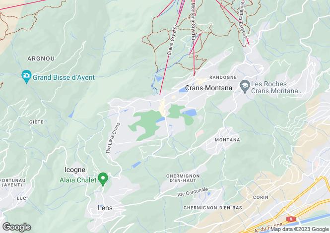 Map for Switzerland - Valais, Crans-montana