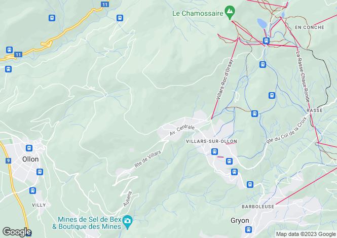 Map for Villars-Sur-Ollon, Villars, Switzerland