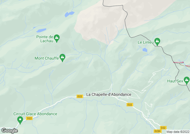 Map for La Chapelle D'Abondance