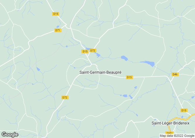 Map for Limousin, Creuse, St-Germain-Beaupré