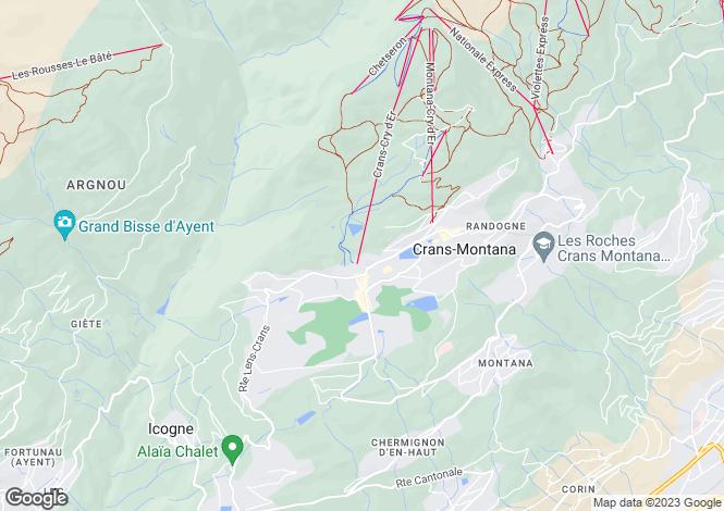 Map for Valais, Crans-montana