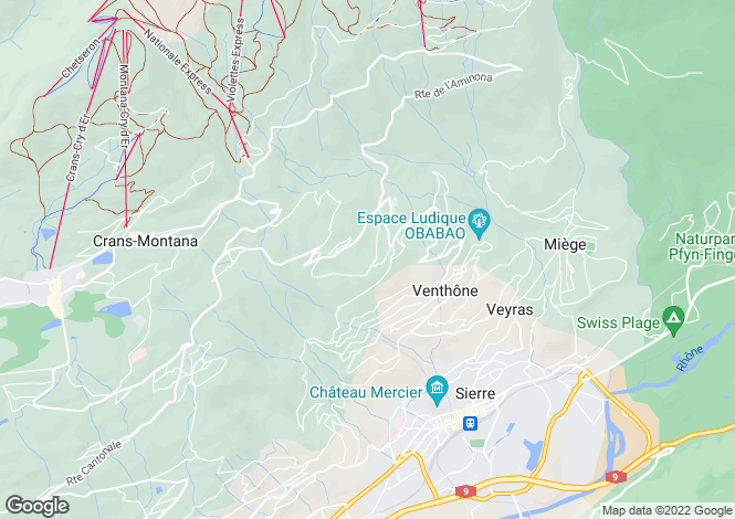 Map for Valais