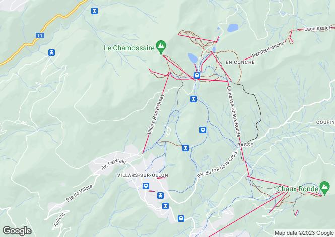 Map for Villars-sur-ollon, Vaud
