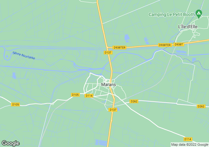 Map for marans, Charente-Maritime, France