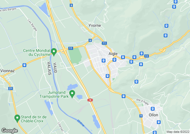 Map for Switzerland - Vaud, Aigle