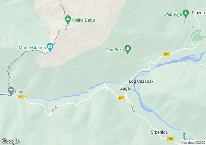 Map for Tolmin, Zaga