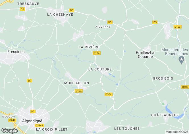 Map for aigonnay, Deux-Sèvres, France