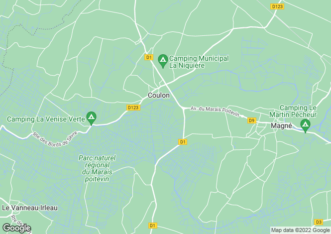 Map for coulon, Deux-Sèvres, France
