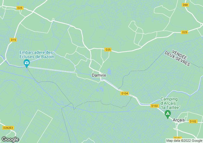 Map for damvix, Vendée, France
