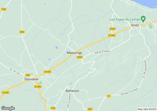 Map for Massongy,France