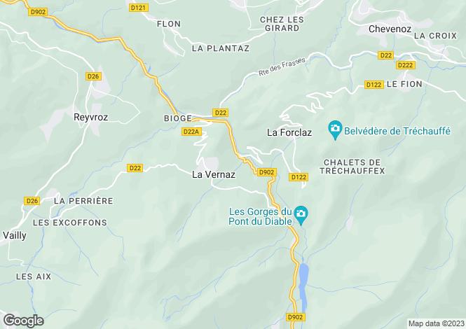 Map for La Vernaz, Haute-Savoie, 74430, France