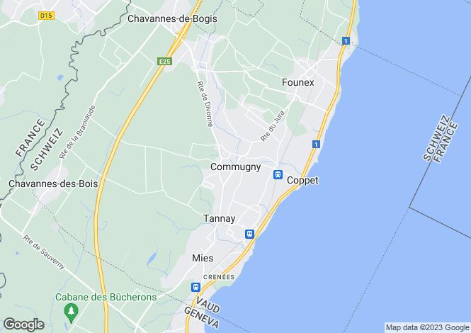 Map for Vaud, Commugny