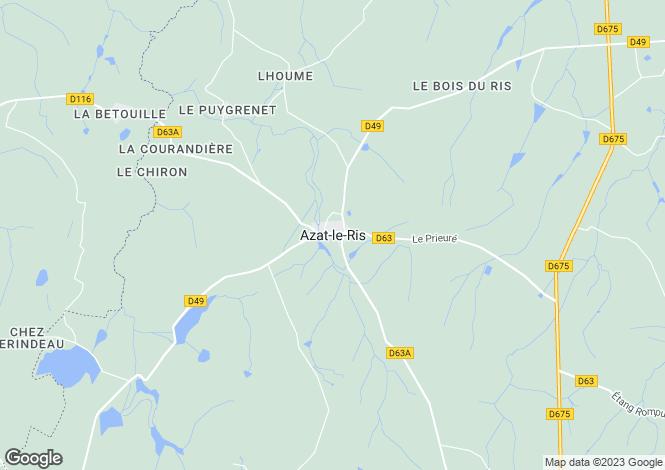 Map for Secteur: Azat-le-Ris, Haute-Vienne
