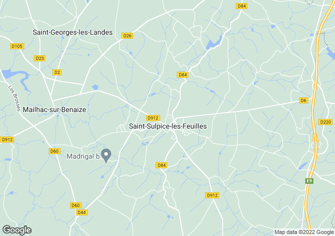Map for st-sulpice-les-feuilles, Haute-Vienne, France