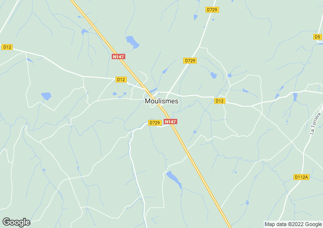 Map for moulismes, Vienne, France