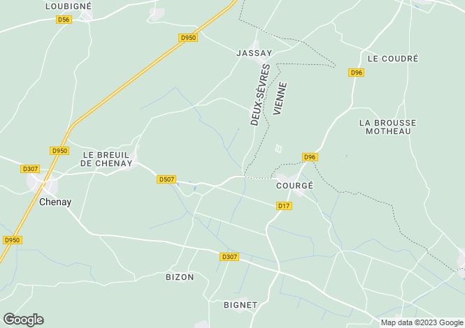 Map for Secteur: Lezay, Deux-Sèvres