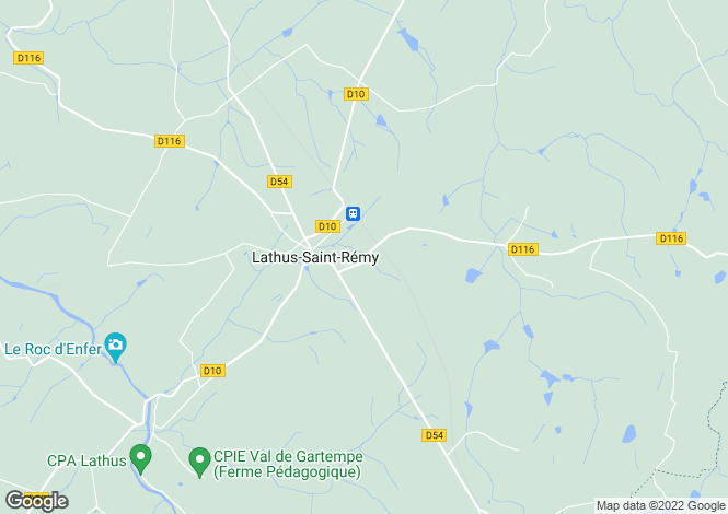 Map for 86390 lathus-st-remy