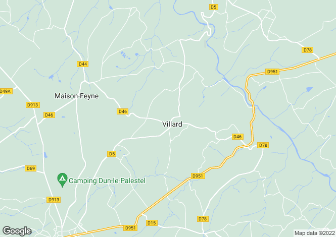 Map for Limousin, Creuse, Villard
