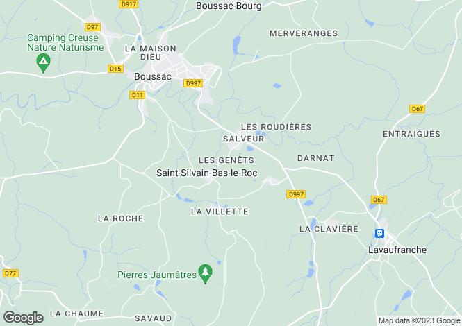 Map for st-silvain-bas-le-roc, Creuse, France