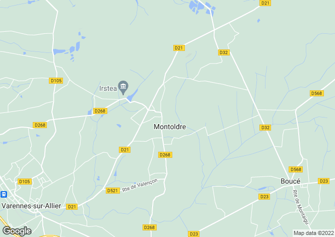 Map for montoldre, Allier, France