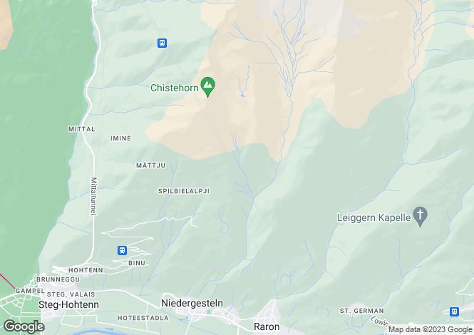 Map for Raron, Valais