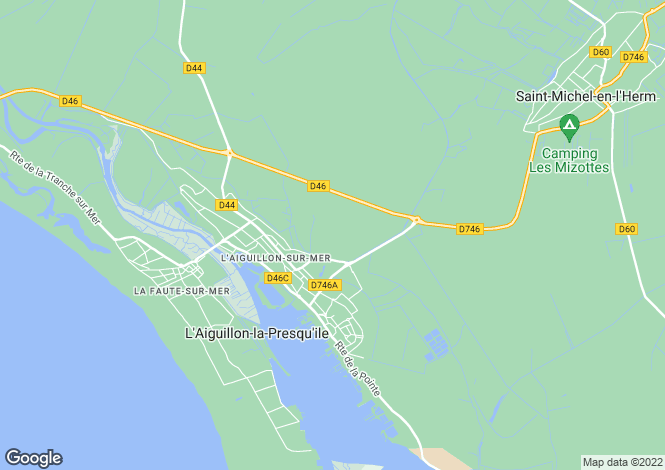 Map for laiguillon-sur-mer, Vendée, France