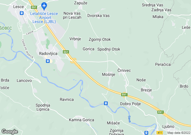 Map for Radovljica, Radovljica