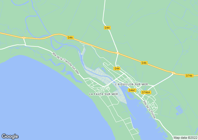 Map for la-faute-sur-mer, Vendée, France