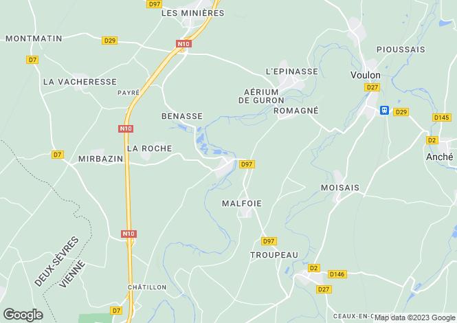 Map for Poitou-Charentes, Vienne, Payré
