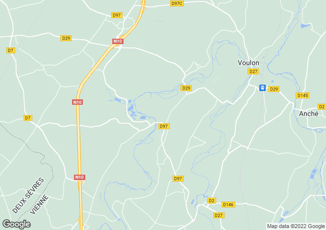 Map for Secteur: Couhe, Vienne