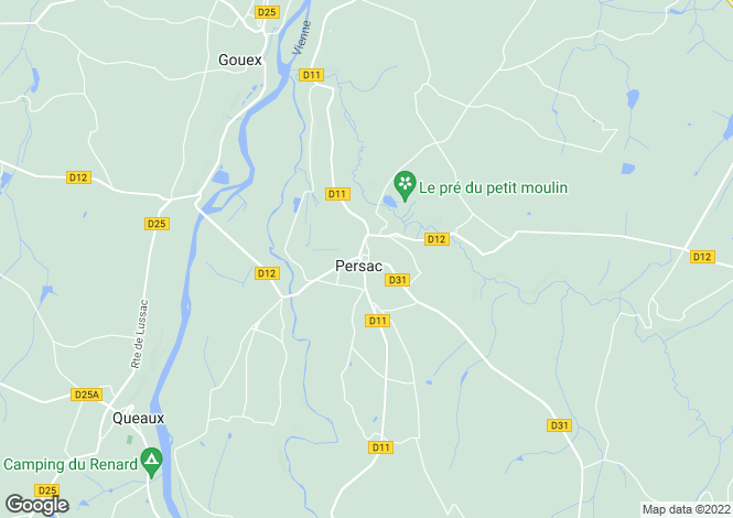 Map for persac, Vienne, France
