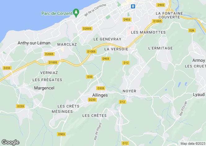 Map for Allinges, 74200, France