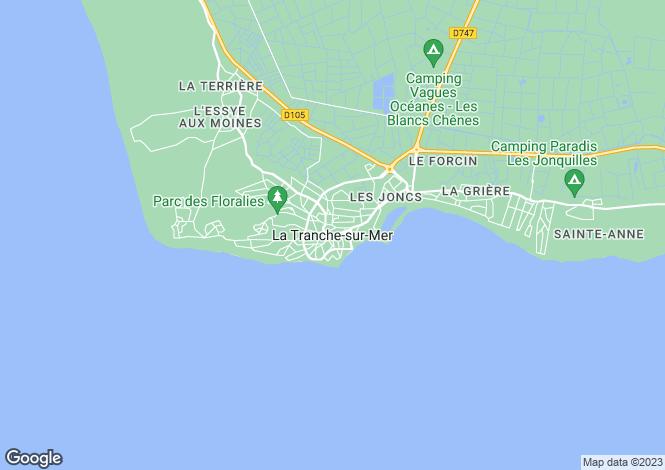 Map for Proche/Near La Tranche sur Mer, Vendee