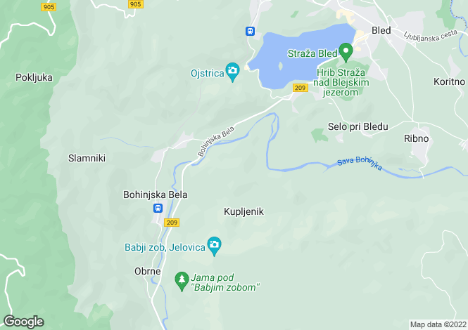 Map for Radovljica, Bled