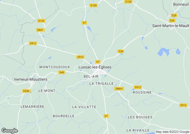 Map for Secteur: Lussac-les-Églises, Haute-Vienne
