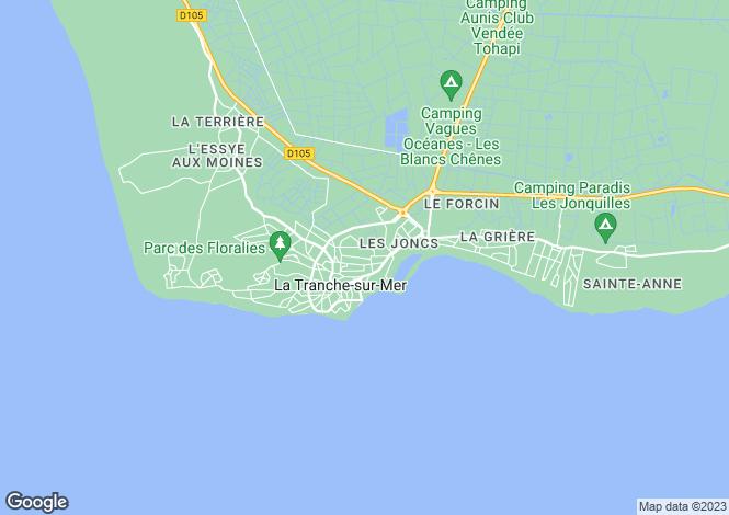 Map for la-tranche-sur-mer, Vendée, France