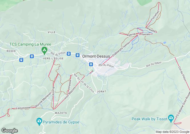 Map for Switzerland - Vaud, Les Diablerets