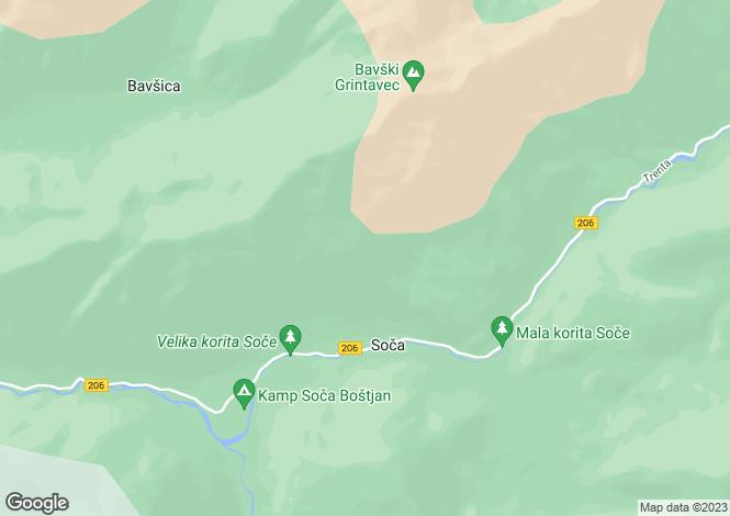 Map for Tolmin, Soca